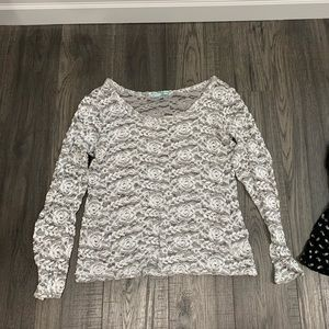 Lace Blouse Top Shirt